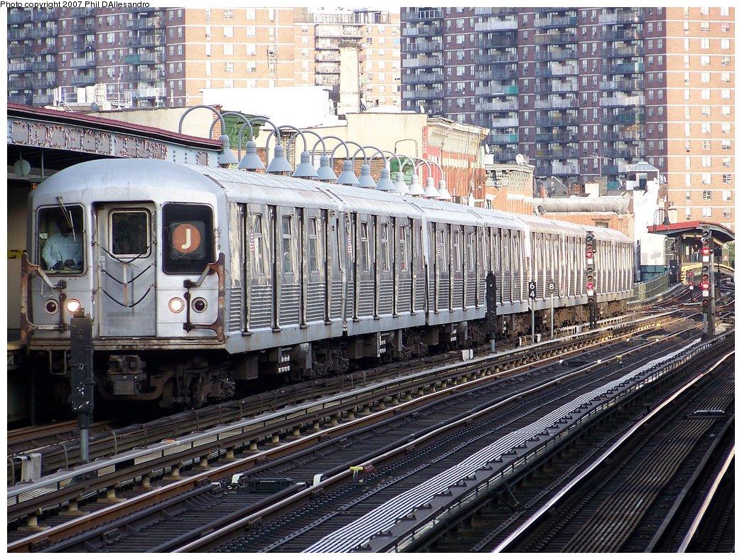(291k, 1044x788)<br><b>Country:</b> United States<br><b>City:</b> New York<br><b>System:</b> New York City Transit<br><b>Line:</b> BMT Nassau Street/Jamaica Line<br><b>Location:</b> Marcy Avenue <br><b>Route:</b> J<br><b>Car:</b> R-42 (St. Louis, 1969-1970)  4709 <br><b>Photo by:</b> Philip D'Allesandro<br><b>Date:</b> 10/1/2007<br><b>Viewed (this week/total):</b> 0 / 1529