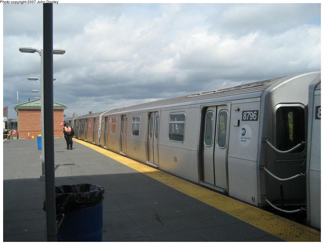 (110k, 1043x787)<br><b>Country:</b> United States<br><b>City:</b> New York<br><b>System:</b> New York City Transit<br><b>Location:</b> Coney Island/Stillwell Avenue<br><b>Route:</b> N<br><b>Car:</b> R-160B (Kawasaki, 2005-2008)  8796 <br><b>Photo by:</b> John Dooley<br><b>Date:</b> 10/1/2007<br><b>Viewed (this week/total):</b> 0 / 2108