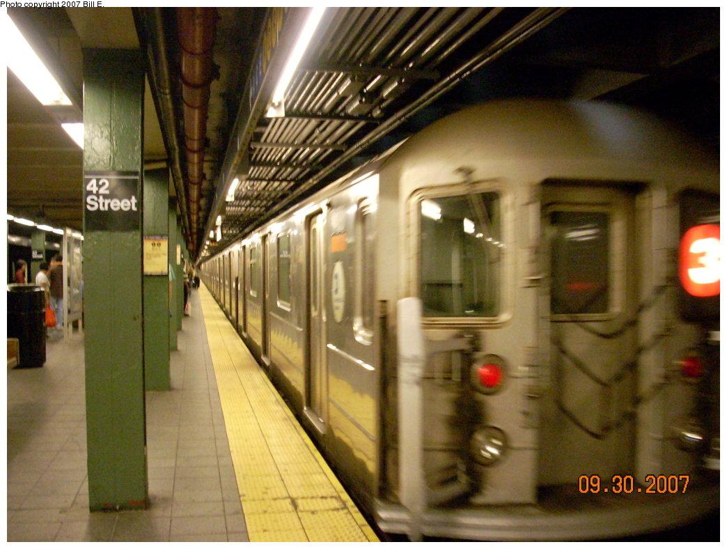 (204k, 1044x788)<br><b>Country:</b> United States<br><b>City:</b> New York<br><b>System:</b> New York City Transit<br><b>Line:</b> IRT West Side Line<br><b>Location:</b> Times Square/42nd Street <br><b>Route:</b> 2<br><b>Car:</b> R-62 (Kawasaki, 1983-1985)   <br><b>Photo by:</b> Bill E.<br><b>Date:</b> 9/30/2007<br><b>Viewed (this week/total):</b> 0 / 2953