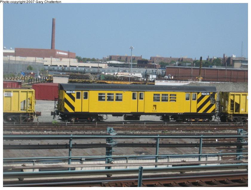 (117k, 840x635)<br><b>Country:</b> United States<br><b>City:</b> New York<br><b>System:</b> New York City Transit<br><b>Location:</b> Coney Island Yard<br><b>Car:</b> R-161 Rider Car (ex-R-33)  RD436 (ex-8914)<br><b>Photo by:</b> Gary Chatterton<br><b>Date:</b> 9/8/2007<br><b>Viewed (this week/total):</b> 1 / 1194