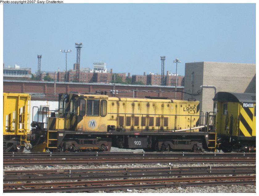 (109k, 840x635)<br><b>Country:</b> United States<br><b>City:</b> New York<br><b>System:</b> New York City Transit<br><b>Location:</b> Coney Island Yard<br><b>Car:</b> R-77 Locomotive  900 <br><b>Photo by:</b> Gary Chatterton<br><b>Date:</b> 9/8/2007<br><b>Viewed (this week/total):</b> 2 / 1047