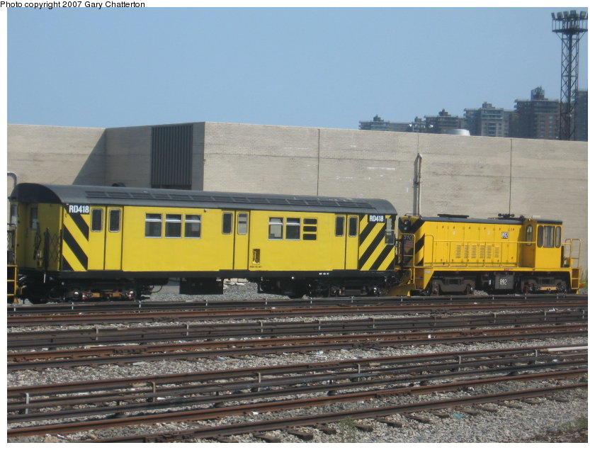 (117k, 840x635)<br><b>Country:</b> United States<br><b>City:</b> New York<br><b>System:</b> New York City Transit<br><b>Location:</b> Coney Island Yard<br><b>Car:</b> R-161 Rider Car (ex-R-33)  RD418 (ex-9066)<br><b>Photo by:</b> Gary Chatterton<br><b>Date:</b> 9/8/2007<br><b>Viewed (this week/total):</b> 0 / 1114