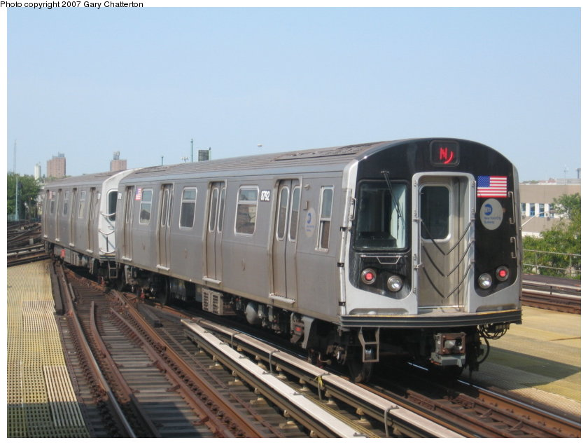 (100k, 840x635)<br><b>Country:</b> United States<br><b>City:</b> New York<br><b>System:</b> New York City Transit<br><b>Location:</b> Coney Island/Stillwell Avenue<br><b>Route:</b> N<br><b>Car:</b> R-160B (Kawasaki, 2005-2008)  8792 <br><b>Photo by:</b> Gary Chatterton<br><b>Date:</b> 9/8/2007<br><b>Viewed (this week/total):</b> 0 / 1828