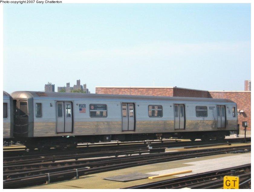 (71k, 840x635)<br><b>Country:</b> United States<br><b>City:</b> New York<br><b>System:</b> New York City Transit<br><b>Location:</b> Coney Island/Stillwell Avenue<br><b>Route:</b> D<br><b>Car:</b> R-68 (Westinghouse-Amrail, 1986-1988)  2700 <br><b>Photo by:</b> Gary Chatterton<br><b>Date:</b> 9/8/2007<br><b>Viewed (this week/total):</b> 0 / 1678