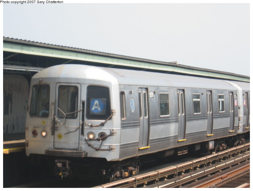 (78k, 820x620)<br><b>Country:</b> United States<br><b>City:</b> New York<br><b>System:</b> New York City Transit<br><b>Line:</b> IND Fulton Street Line<br><b>Location:</b> 104th Street/Oxford Ave. <br><b>Route:</b> A<br><b>Car:</b> R-44 (St. Louis, 1971-73) 5278 <br><b>Photo by:</b> Gary Chatterton<br><b>Date:</b> 9/8/2007<br><b>Viewed (this week/total):</b> 0 / 1252