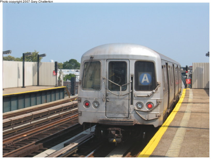 (84k, 820x620)<br><b>Country:</b> United States<br><b>City:</b> New York<br><b>System:</b> New York City Transit<br><b>Line:</b> IND Fulton Street Line<br><b>Location:</b> 104th Street/Oxford Ave. <br><b>Route:</b> A<br><b>Car:</b> R-44 (St. Louis, 1971-73) 5234 <br><b>Photo by:</b> Gary Chatterton<br><b>Date:</b> 9/8/2007<br><b>Viewed (this week/total):</b> 1 / 1940