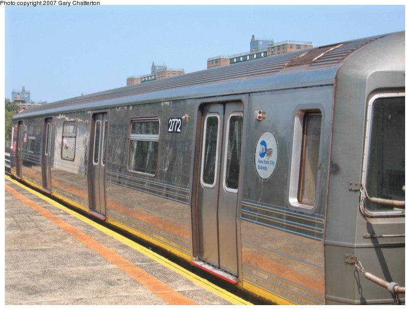 (108k, 840x635)<br><b>Country:</b> United States<br><b>City:</b> New York<br><b>System:</b> New York City Transit<br><b>Line:</b> BMT West End Line<br><b>Location:</b> Bay 50th Street <br><b>Route:</b> D<br><b>Car:</b> R-68 (Westinghouse-Amrail, 1986-1988)  2772 <br><b>Photo by:</b> Gary Chatterton<br><b>Date:</b> 9/8/2007<br><b>Viewed (this week/total):</b> 0 / 1834