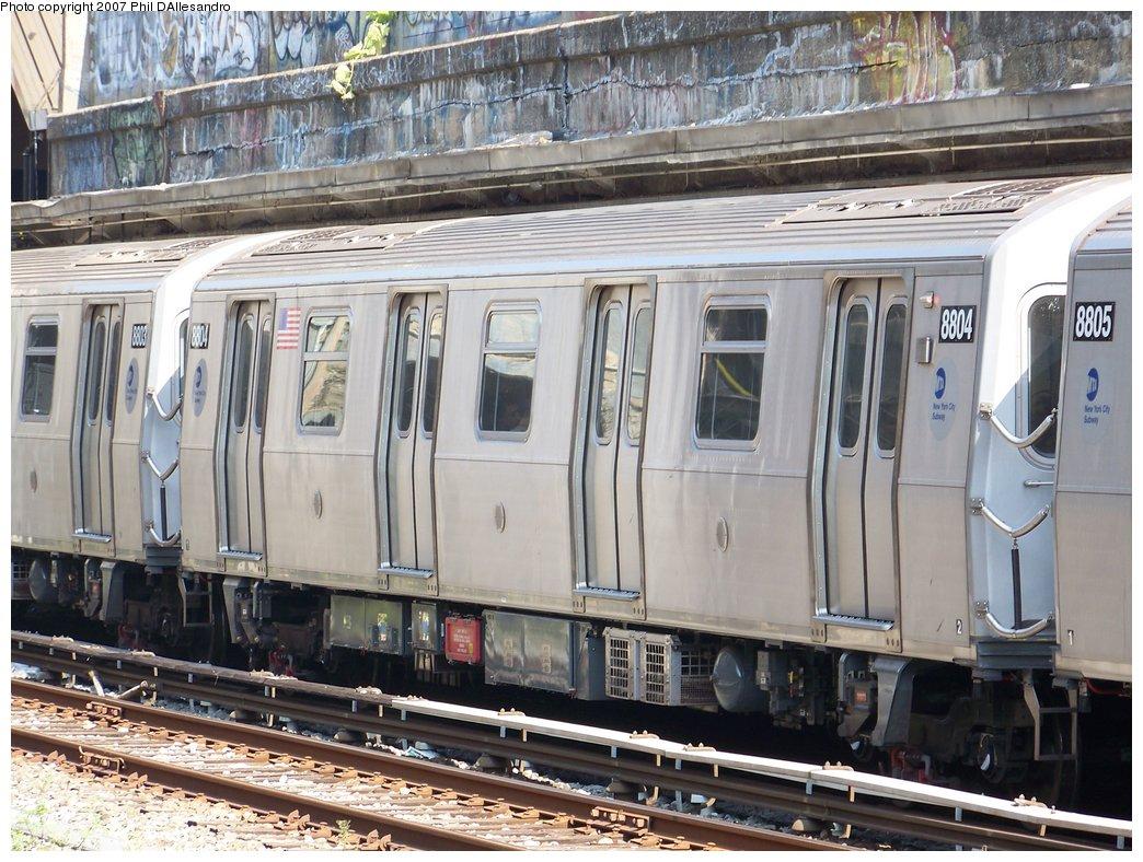 (220k, 1044x788)<br><b>Country:</b> United States<br><b>City:</b> New York<br><b>System:</b> New York City Transit<br><b>Line:</b> BMT Sea Beach Line<br><b>Location:</b> Bay Parkway (22nd Avenue) <br><b>Route:</b> N<br><b>Car:</b> R-160B (Kawasaki, 2005-2008)  8804 <br><b>Photo by:</b> Philip D'Allesandro<br><b>Date:</b> 10/6/2007<br><b>Viewed (this week/total):</b> 1 / 1838
