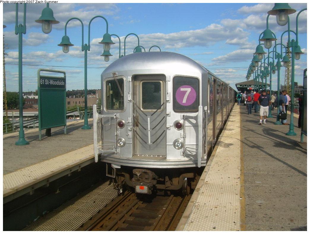 (223k, 1044x788)<br><b>Country:</b> United States<br><b>City:</b> New York<br><b>System:</b> New York City Transit<br><b>Line:</b> IRT Flushing Line<br><b>Location:</b> 61st Street/Woodside <br><b>Route:</b> 7<br><b>Car:</b> R-62A (Bombardier, 1984-1987)  1810 <br><b>Photo by:</b> Zach Summer<br><b>Date:</b> 9/12/2007<br><b>Viewed (this week/total):</b> 2 / 1605