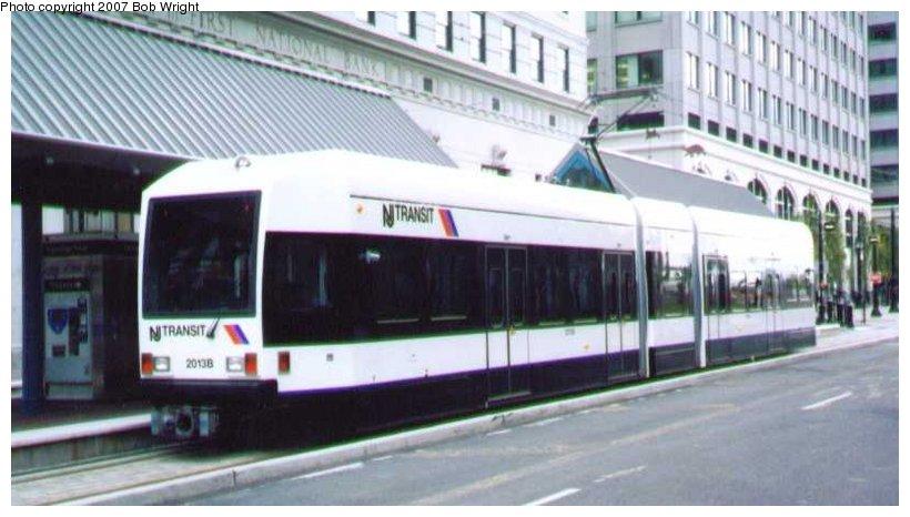 (74k, 820x466)<br><b>Country:</b> United States<br><b>City:</b> Jersey City, NJ<br><b>System:</b> Hudson Bergen Light Rail<br><b>Location:</b> Exchange Place <br><b>Car:</b> NJT-HBLR LRV (Kinki-Sharyo, 1998-99)  2013 <br><b>Photo by:</b> Bob Wright<br><b>Date:</b> 2000<br><b>Viewed (this week/total):</b> 0 / 723