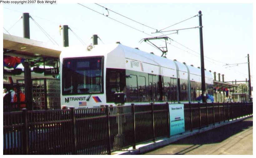 (71k, 820x508)<br><b>Country:</b> United States<br><b>City:</b> Hoboken, NJ<br><b>System:</b> Hudson Bergen Light Rail<br><b>Location:</b> Hoboken <br><b>Car:</b> NJT-HBLR LRV (Kinki-Sharyo, 1998-99)  2025 <br><b>Photo by:</b> Bob Wright<br><b>Date:</b> 9/29/2002<br><b>Viewed (this week/total):</b> 0 / 685
