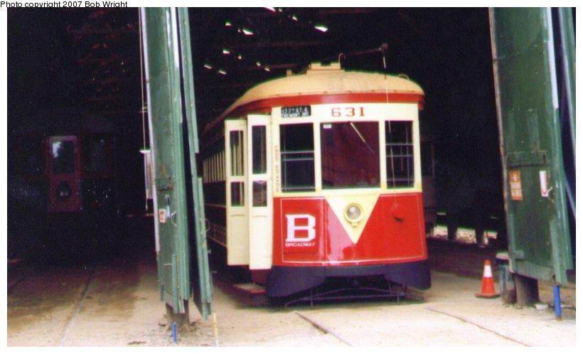 (68k, 820x498)<br><b>Country:</b> United States<br><b>City:</b> Kennebunk, ME<br><b>System:</b> Seashore Trolley Museum <br><b>Car:</b> TARS 631 <br><b>Photo by:</b> Bob Wright<br><b>Date:</b> 1997<br><b>Viewed (this week/total):</b> 0 / 897