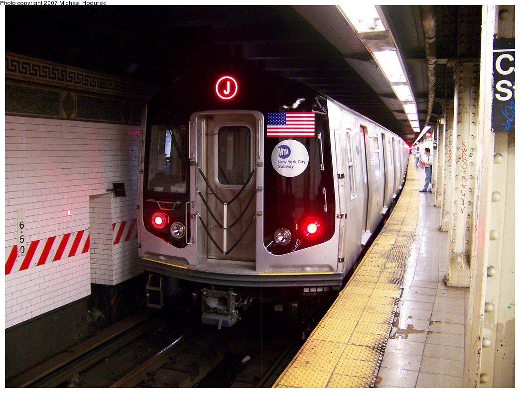 (188k, 1044x790)<br><b>Country:</b> United States<br><b>City:</b> New York<br><b>System:</b> New York City Transit<br><b>Line:</b> BMT Nassau Street/Jamaica Line<br><b>Location:</b> Canal Street <br><b>Route:</b> Testing<br><b>Car:</b> R-160A-1 (Alstom, 2005-2008, 4 car sets)  8380 <br><b>Photo by:</b> Michael Hodurski<br><b>Date:</b> 9/28/2007<br><b>Viewed (this week/total):</b> 0 / 3628