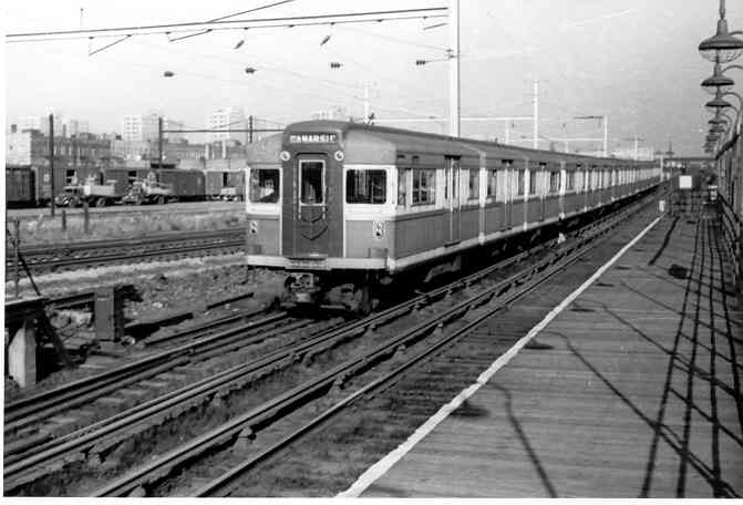 (29k, 671x456)<br><b>Country:</b> United States<br><b>City:</b> New York<br><b>System:</b> New York City Transit<br><b>Line:</b> BMT Canarsie Line<br><b>Location:</b> Sutter Avenue <br><b>Car:</b> BMT Bluebird  <br><b>Photo by:</b> Frank Pfuhler<br><b>Viewed (this week/total):</b> 0 / 2213