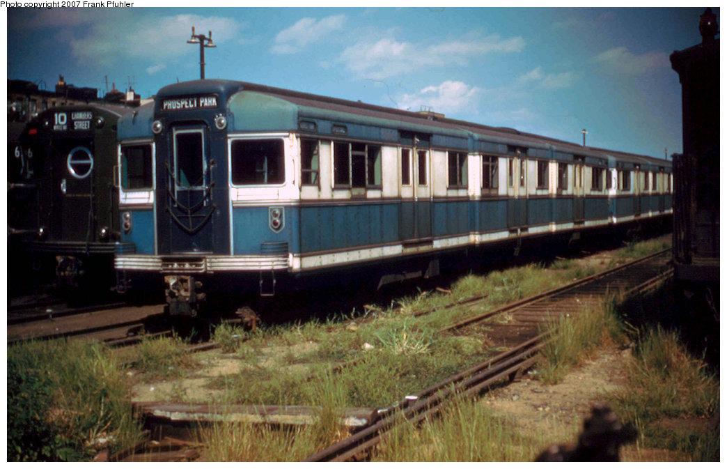 (201k, 1044x673)<br><b>Country:</b> United States<br><b>City:</b> New York<br><b>System:</b> New York City Transit<br><b>Location:</b> Fresh Pond Yard<br><b>Car:</b> BMT Bluebird  <br><b>Photo by:</b> Frank Pfuhler<br><b>Date:</b> 9/4/1955<br><b>Viewed (this week/total):</b> 2 / 2579
