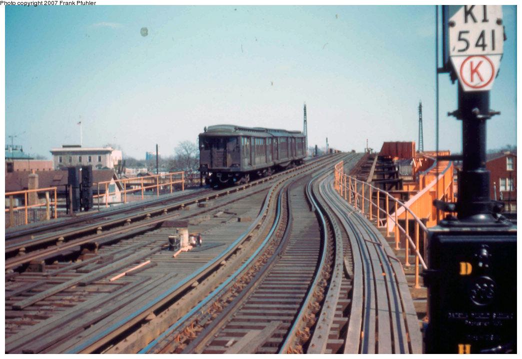 (200k, 1044x719)<br><b>Country:</b> United States<br><b>City:</b> New York<br><b>System:</b> New York City Transit<br><b>Line:</b> IND Fulton Street Line<br><b>Location:</b> Rockaway Boulevard <br><b>Car:</b> BMT C 1524 <br><b>Photo by:</b> Frank Pfuhler<br><b>Date:</b> 3/20/1955<br><b>Viewed (this week/total):</b> 0 / 3200