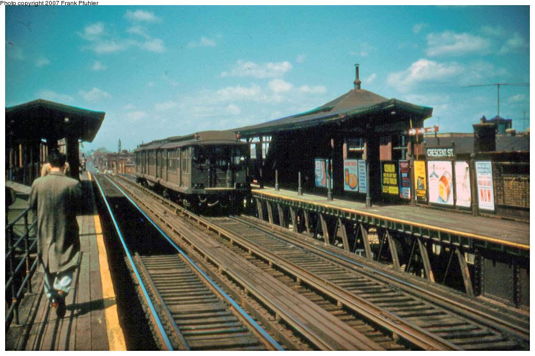 (250k, 1044x694)<br><b>Country:</b> United States<br><b>City:</b> New York<br><b>System:</b> New York City Transit<br><b>Line:</b> BMT Fulton<br><b>Location:</b> Crescent Street <br><b>Car:</b> BMT C  <br><b>Photo by:</b> Frank Pfuhler<br><b>Date:</b> 4/22/1956<br><b>Viewed (this week/total):</b> 3 / 2637