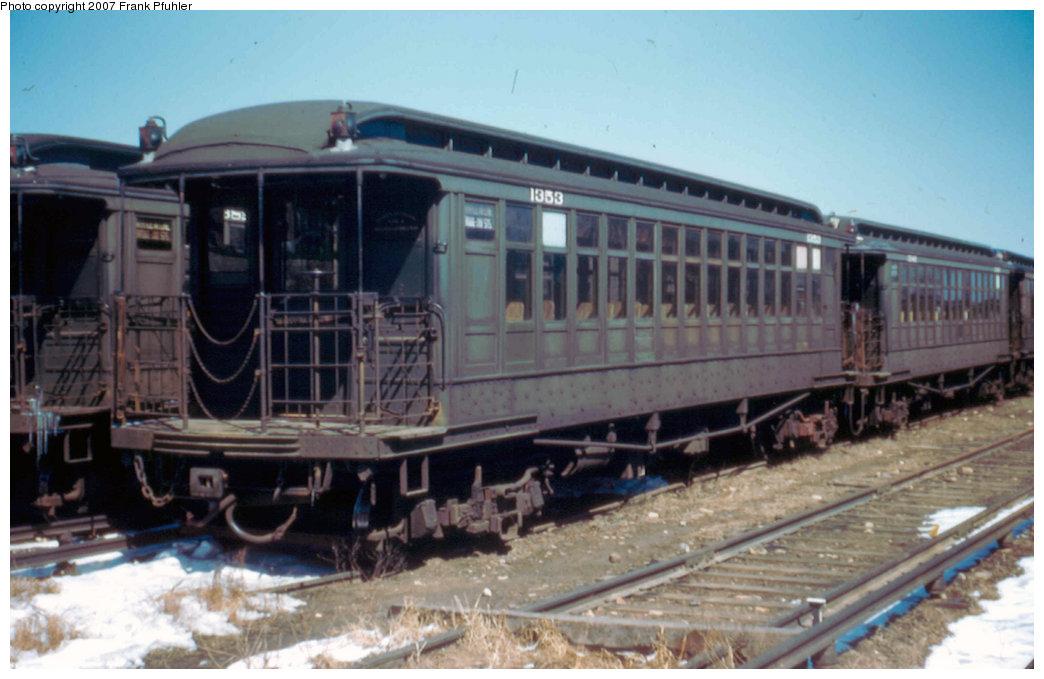 (184k, 1044x679)<br><b>Country:</b> United States<br><b>City:</b> New York<br><b>System:</b> New York City Transit<br><b>Location:</b> Fresh Pond Yard<br><b>Car:</b> BMT Elevated Gate Car 1353 <br><b>Photo by:</b> Frank Pfuhler<br><b>Date:</b> 3/24/1956<br><b>Viewed (this week/total):</b> 5 / 2323