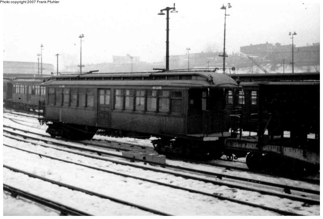 (95k, 1044x708)<br><b>Country:</b> United States<br><b>City:</b> New York<br><b>System:</b> New York City Transit<br><b>Location:</b> 36th Street Yard<br><b>Car:</b> BMT Elevated Gate Car 835 <br><b>Photo by:</b> Frank Pfuhler<br><b>Viewed (this week/total):</b> 0 / 1658