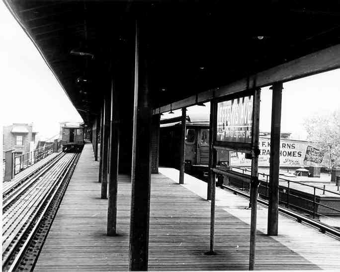 (33k, 684x548)<br><b>Country:</b> United States<br><b>City:</b> New York<br><b>System:</b> New York City Transit<br><b>Line:</b> IND Fulton Street Line<br><b>Location:</b> Lefferts Boulevard <br><b>Car:</b> BMT C 1508 <br><b>Photo by:</b> Frank Pfuhler<br><b>Date:</b> 5/1/1954<br><b>Viewed (this week/total):</b> 1 / 2549