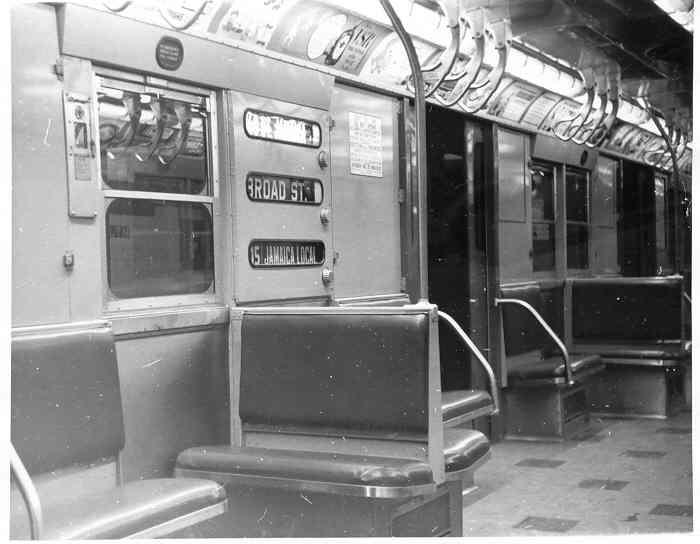 (29k, 700x544)<br><b>Country:</b> United States<br><b>City:</b> New York<br><b>System:</b> New York City Transit<br><b>Car:</b> R-16 (American Car & Foundry, 1955) 6442 <br><b>Photo by:</b> Frank Pfuhler<br><b>Date:</b> 2/13/1955<br><b>Viewed (this week/total):</b> 2 / 2879