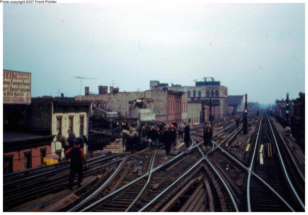 (179k, 1044x731)<br><b>Country:</b> United States<br><b>City:</b> New York<br><b>System:</b> New York City Transit<br><b>Line:</b> BMT Nassau Street/Jamaica Line<br><b>Location:</b> Myrtle Avenue <br><b>Car:</b> SBK Steeplecab 7 <br><b>Photo by:</b> Frank Pfuhler<br><b>Date:</b> 2/23/1957<br><b>Viewed (this week/total):</b> 2 / 3663