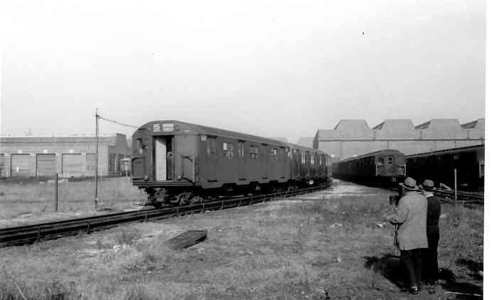 (18k, 692x422)<br><b>Country:</b> United States<br><b>City:</b> New York<br><b>System:</b> New York City Transit<br><b>Location:</b> Coney Island Yard<br><b>Car:</b> R-27 (St. Louis, 1960)  8022/8023 <br><b>Photo by:</b> Frank Pfuhler<br><b>Date:</b> 11/26/1960<br><b>Viewed (this week/total):</b> 1 / 3096