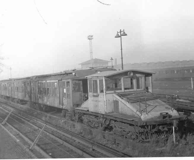 (18k, 654x540)<br><b>Country:</b> United States<br><b>City:</b> New York<br><b>System:</b> New York City Transit<br><b>Location:</b> Coney Island Yard<br><b>Car:</b> SBK Steeplecab  <br><b>Photo by:</b> Frank Pfuhler<br><b>Date:</b> 2/7/1954<br><b>Viewed (this week/total):</b> 0 / 2370