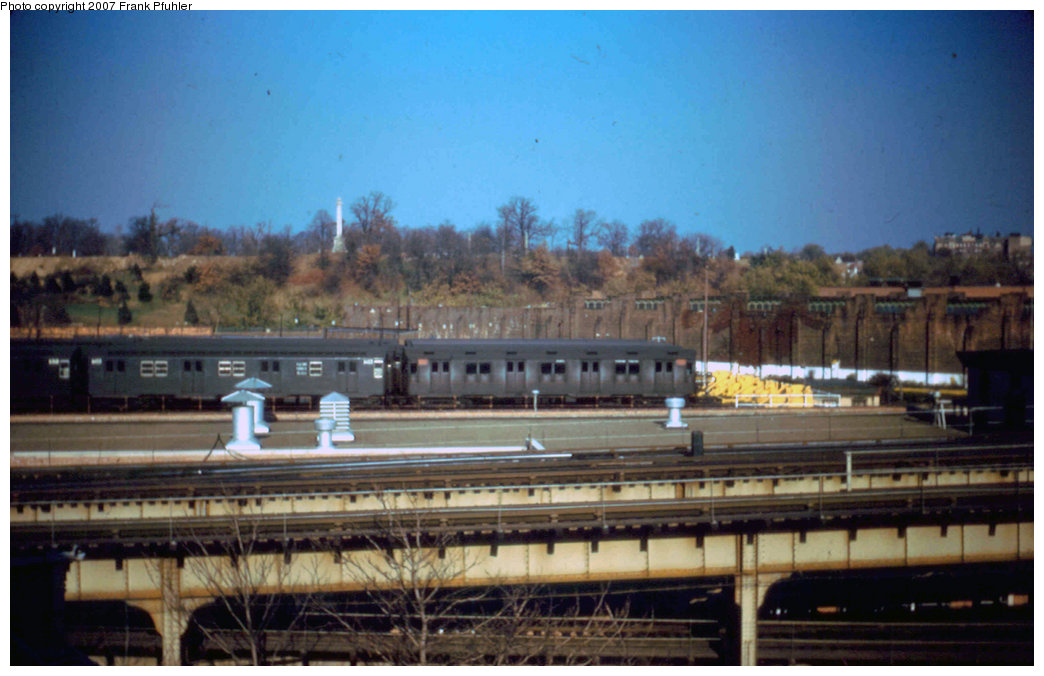(188k, 1044x676)<br><b>Country:</b> United States<br><b>City:</b> New York<br><b>System:</b> New York City Transit<br><b>Location:</b> East New York Yard/Shops<br><b>Car:</b> R-10 (American Car & Foundry, 1948)  <br><b>Photo by:</b> Frank Pfuhler<br><b>Date:</b> 11/2/1955<br><b>Viewed (this week/total):</b> 0 / 3701