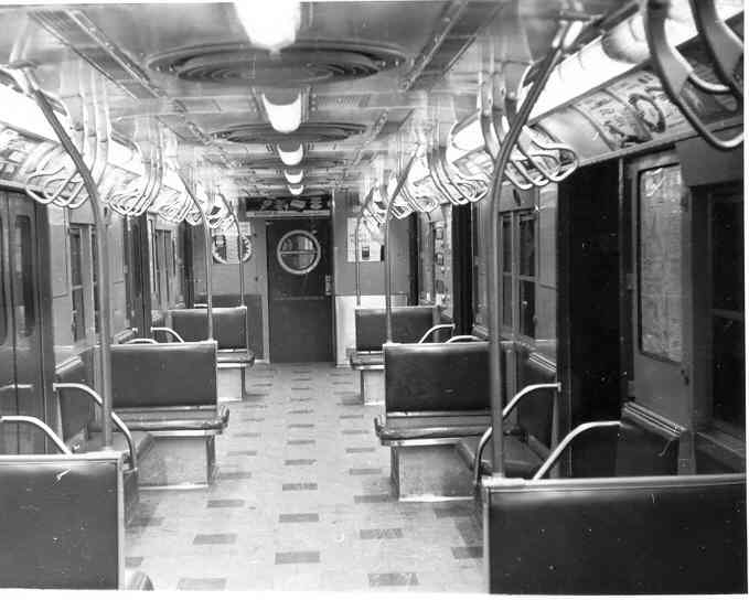 (32k, 679x544)<br><b>Country:</b> United States<br><b>City:</b> New York<br><b>System:</b> New York City Transit<br><b>Car:</b> R-16 (American Car & Foundry, 1955) Interior <br><b>Photo by:</b> Frank Pfuhler<br><b>Date:</b> 1/23/1955<br><b>Viewed (this week/total):</b> 0 / 3139