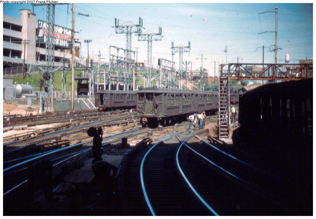 (219k, 1044x723)<br><b>Country:</b> United States<br><b>City:</b> Jersey City, NJ<br><b>System:</b> PATH<br><b>Location:</b> Journal Square Yard <br><b>Car:</b> H&M  <br><b>Photo by:</b> Frank Pfuhler<br><b>Date:</b> 5/7/1955<br><b>Viewed (this week/total):</b> 0 / 2393
