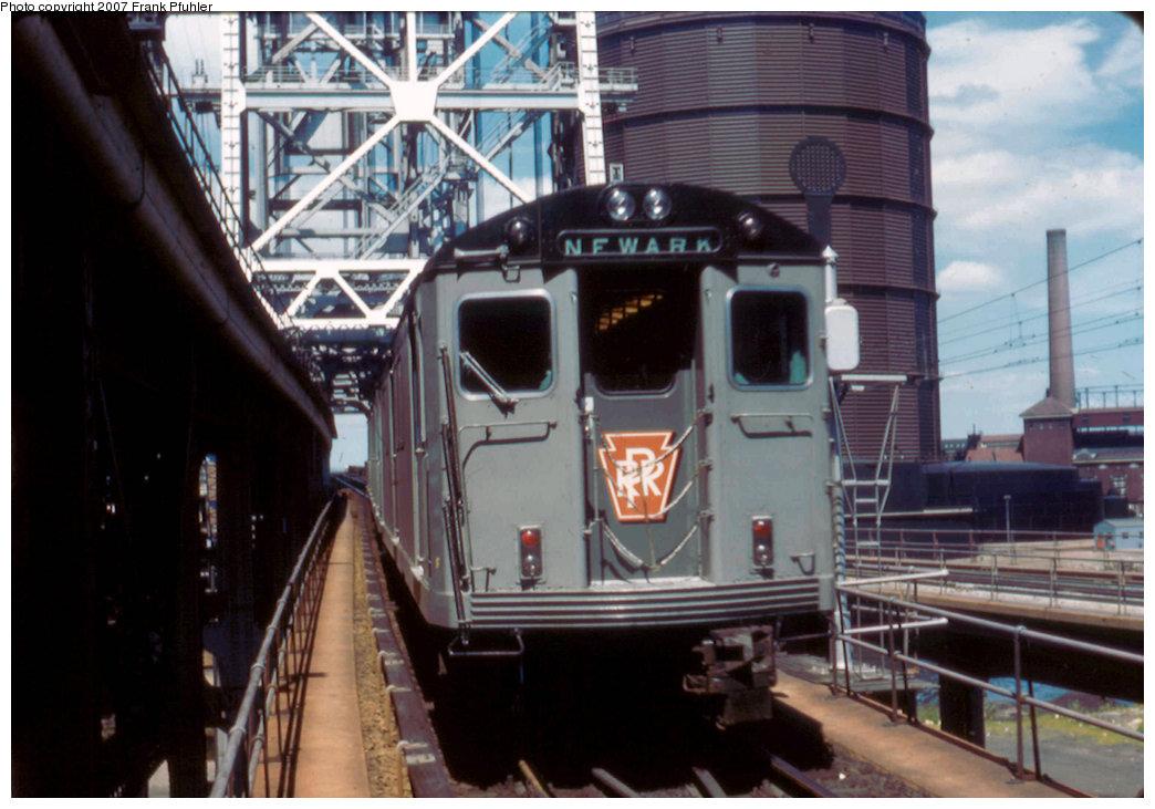 (208k, 1044x731)<br><b>Country:</b> United States<br><b>City:</b> Newark, NJ<br><b>System:</b> PATH<br><b>Location:</b> Newark (Penn Station) <br><b>Car:</b> H&M/PATH K-class  <br><b>Photo by:</b> Frank Pfuhler<br><b>Date:</b> 7/20/1958<br><b>Viewed (this week/total):</b> 2 / 3403