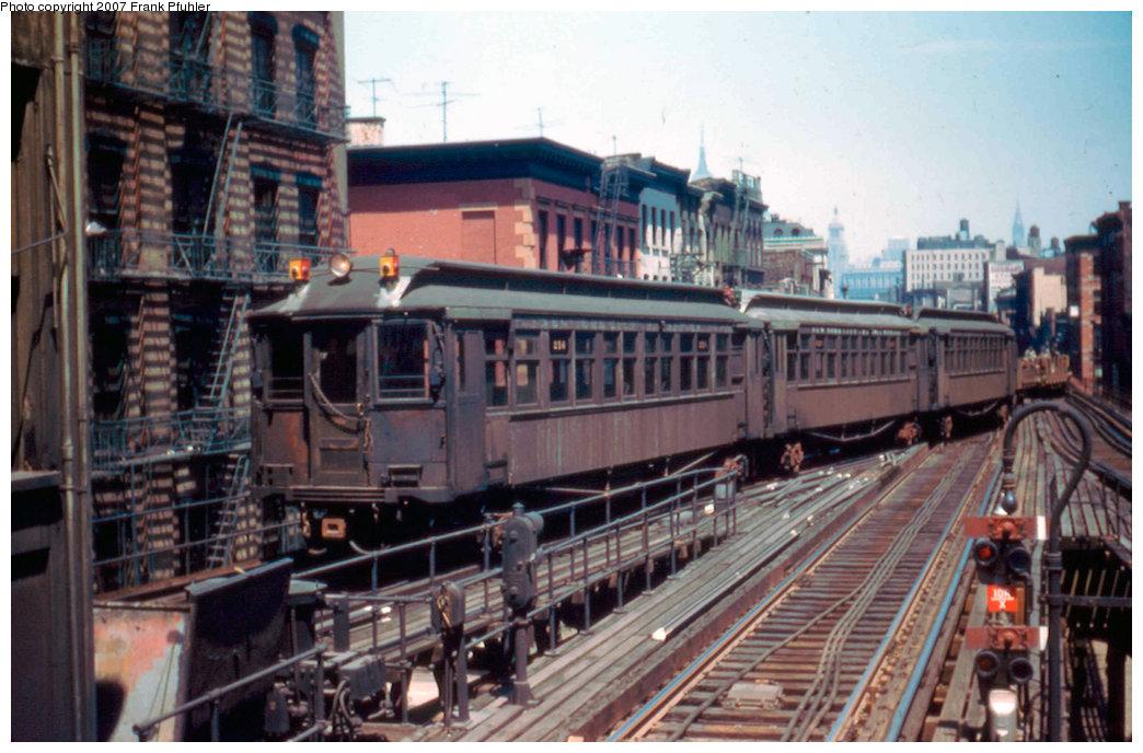(230k, 1044x688)<br><b>Country:</b> United States<br><b>City:</b> New York<br><b>System:</b> New York City Transit<br><b>Line:</b> 3rd Avenue El<br><b>Location:</b> Canal Street <br><b>Car:</b> MUDC  <br><b>Photo by:</b> Frank Pfuhler<br><b>Date:</b> 5/10/1955<br><b>Notes:</b> Work train.<br><b>Viewed (this week/total):</b> 3 / 4589