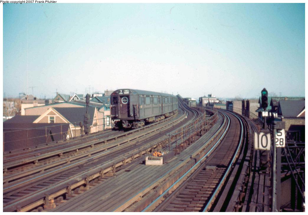 (182k, 1044x728)<br><b>Country:</b> United States<br><b>City:</b> New York<br><b>System:</b> New York City Transit<br><b>Line:</b> IRT Flushing Line<br><b>Location:</b> 103rd Street/Corona Plaza <br><b>Route:</b> 7<br><b>Car:</b> R-15 (American Car & Foundry, 1950)  <br><b>Photo by:</b> Frank Pfuhler<br><b>Date:</b> 2/19/1955<br><b>Viewed (this week/total):</b> 3 / 3324