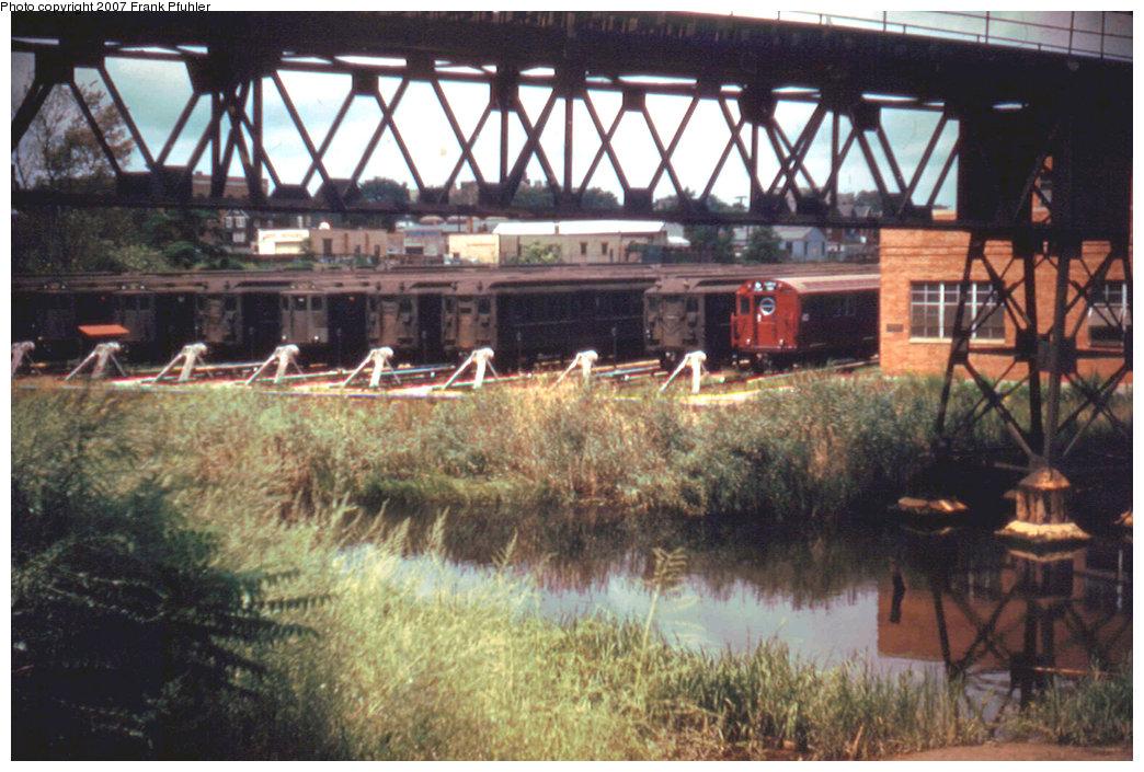 (252k, 1044x705)<br><b>Country:</b> United States<br><b>City:</b> New York<br><b>System:</b> New York City Transit<br><b>Location:</b> Westchester Yard<br><b>Photo by:</b> Frank Pfuhler<br><b>Date:</b> 8/14/1955<br><b>Viewed (this week/total):</b> 32 / 1724