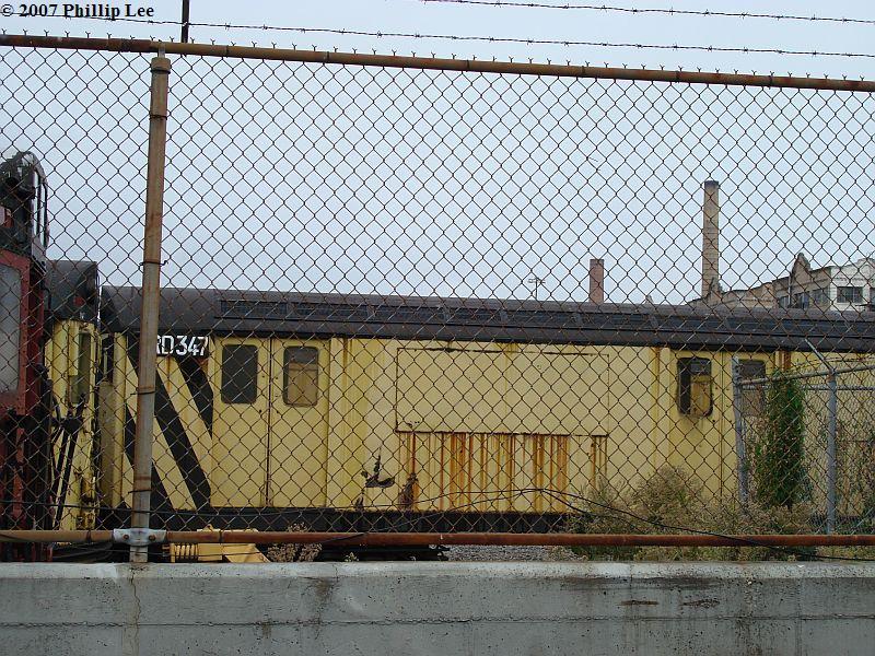 (181k, 800x600)<br><b>Country:</b> United States<br><b>City:</b> New York<br><b>System:</b> New York City Transit<br><b>Line:</b> South Brooklyn Railway<br><b>Location:</b> SBK Yard (2nd Ave at 38th St.) (SBK)<br><b>Car:</b> R-71 Rider Car (R-17/R-21/R-22 Rebuilds)  RD347 (ex-7241)<br><b>Photo by:</b> Phillip Lee<br><b>Date:</b> 9/22/2007<br><b>Viewed (this week/total):</b> 2 / 1162