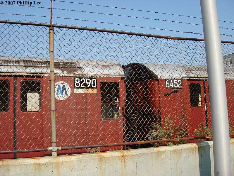 (162k, 800x600)<br><b>Country:</b> United States<br><b>City:</b> New York<br><b>System:</b> New York City Transit<br><b>Line:</b> South Brooklyn Railway<br><b>Location:</b> SBK Yard (2nd Ave at 38th St.) (SBK)<br><b>Car:</b> R-30 (St. Louis, 1961) 8290 <br><b>Photo by:</b> Phillip Lee<br><b>Date:</b> 9/8/2007<br><b>Viewed (this week/total):</b> 2 / 1847