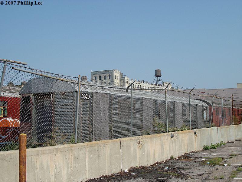 (109k, 800x600)<br><b>Country:</b> United States<br><b>City:</b> New York<br><b>System:</b> New York City Transit<br><b>Line:</b> South Brooklyn Railway<br><b>Location:</b> SBK Yard (2nd Ave at 38th St.) (SBK)<br><b>Car:</b> R-32 (Budd, 1964)  3620 <br><b>Photo by:</b> Phillip Lee<br><b>Date:</b> 9/8/2007<br><b>Viewed (this week/total):</b> 0 / 1729