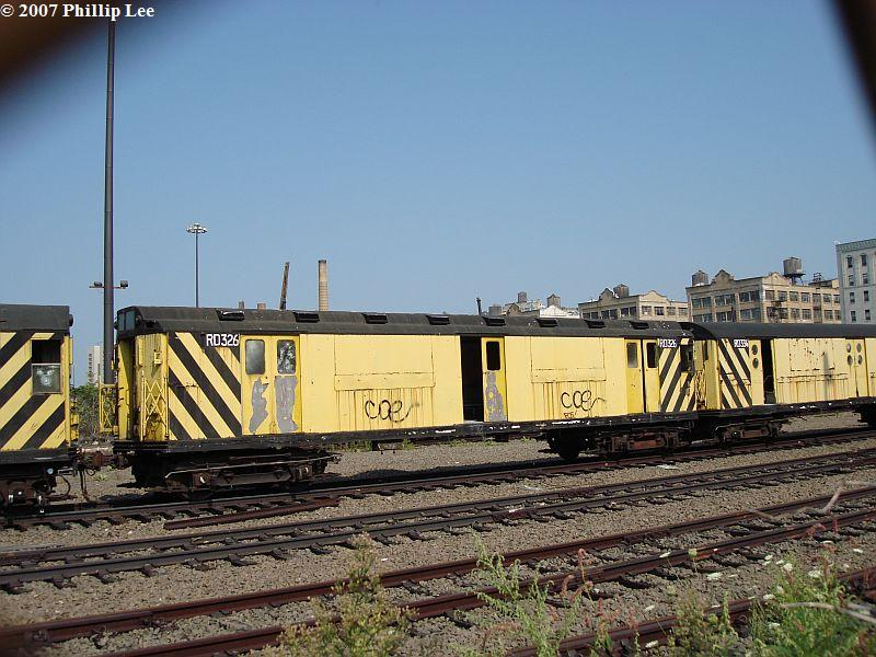 (112k, 800x600)<br><b>Country:</b> United States<br><b>City:</b> New York<br><b>System:</b> New York City Transit<br><b>Line:</b> South Brooklyn Railway<br><b>Location:</b> SBK Yard (2nd Ave at 38th St.) (SBK)<br><b>Car:</b> R-71 Rider Car (R-17/R-21/R-22 Rebuilds)  RD326 (ex-5831)<br><b>Photo by:</b> Phillip Lee<br><b>Date:</b> 9/8/2007<br><b>Viewed (this week/total):</b> 1 / 1194