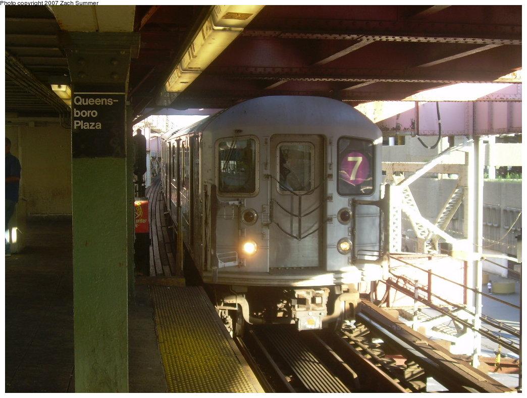 (203k, 1044x788)<br><b>Country:</b> United States<br><b>City:</b> New York<br><b>System:</b> New York City Transit<br><b>Line:</b> IRT Flushing Line<br><b>Location:</b> Queensborough Plaza <br><b>Route:</b> 7<br><b>Car:</b> R-62A (Bombardier, 1984-1987)  1791 <br><b>Photo by:</b> Zach Summer<br><b>Date:</b> 9/12/2007<br><b>Viewed (this week/total):</b> 0 / 1957