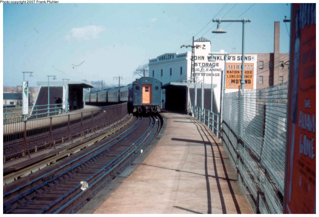 (247k, 1044x710)<br><b>Country:</b> United States<br><b>City:</b> New York<br><b>System:</b> Long Island Rail Road<br><b>Line:</b> LIRR Rockaway<br><b>Location:</b> Far Rockaway <br><b>Photo by:</b> Frank Pfuhler<br><b>Date:</b> 3/4/1956<br><b>Viewed (this week/total):</b> 0 / 2622