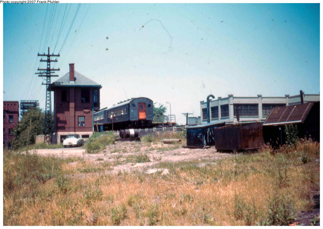 (246k, 1044x741)<br><b>Country:</b> United States<br><b>City:</b> New York<br><b>System:</b> Long Island Rail Road<br><b>Line:</b> LIRR Rockaway<br><b>Location:</b> Ozone Park <br><b>Photo by:</b> Frank Pfuhler<br><b>Date:</b> 6/18/1955<br><b>Viewed (this week/total):</b> 6 / 2204