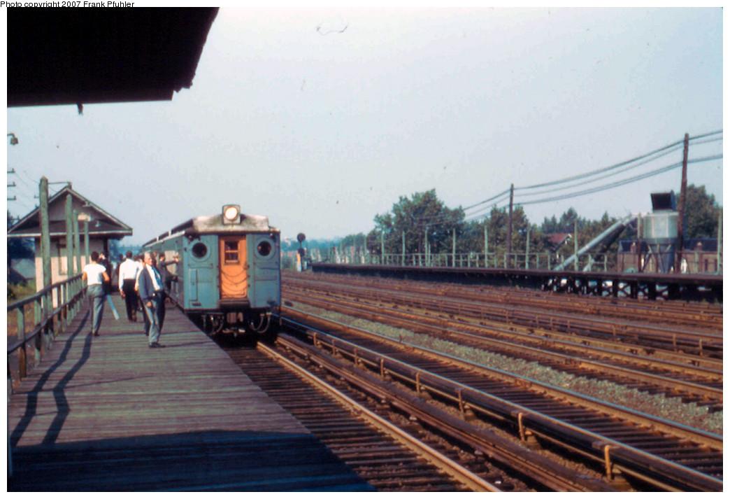 (222k, 1044x713)<br><b>Country:</b> United States<br><b>City:</b> New York<br><b>System:</b> Long Island Rail Road<br><b>Line:</b> LIRR Rockaway<br><b>Location:</b> Rego Park <br><b>Route:</b> Fan Trip<br><b>Photo by:</b> Frank Pfuhler<br><b>Date:</b> 9/23/1956<br><b>Viewed (this week/total):</b> 1 / 2503