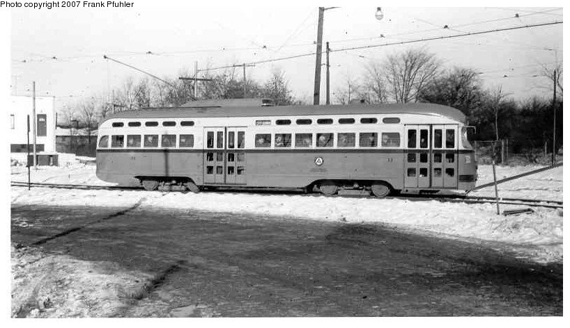 (99k, 818x472)<br><b>Country:</b> United States<br><b>City:</b> Newark, NJ<br><b>System:</b> Newark City Subway<br><b>Location:</b> Franklin Avenue <br><b>Car:</b> NJTransit/PSCT PCC (Ex-Twin City) (St. Louis Car Co., 1946-1947) 11 <br><b>Photo by:</b> Frank Pfuhler<br><b>Date:</b> 1/17/1954<br><b>Viewed (this week/total):</b> 1 / 1169