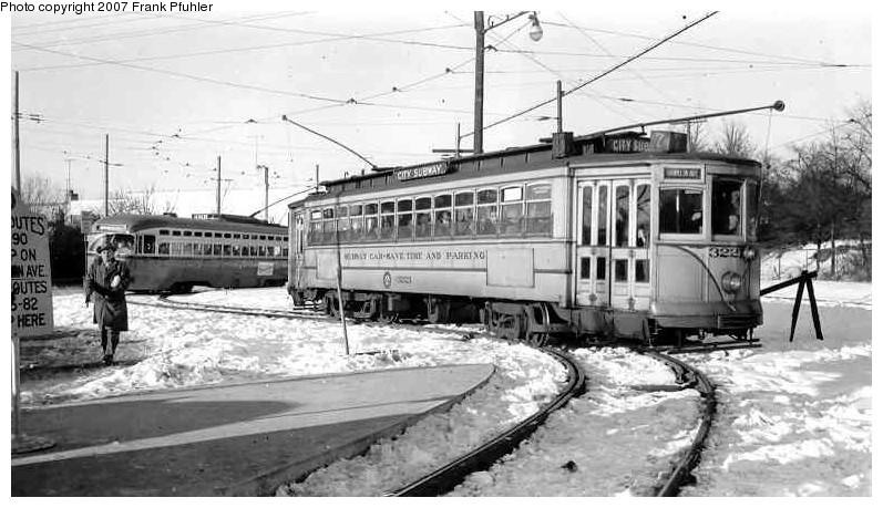 (111k, 797x459)<br><b>Country:</b> United States<br><b>City:</b> Newark, NJ<br><b>System:</b> Newark City Subway<br><b>Location:</b> Franklin Avenue <br><b>Car:</b>  3221 <br><b>Photo by:</b> Frank Pfuhler<br><b>Date:</b> 1/17/1954<br><b>Viewed (this week/total):</b> 1 / 1737
