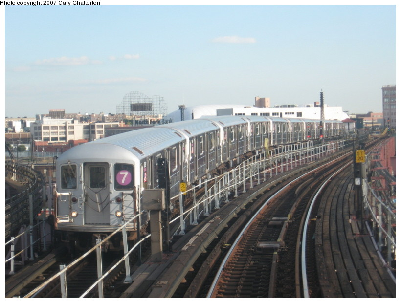 (126k, 820x620)<br><b>Country:</b> United States<br><b>City:</b> New York<br><b>System:</b> New York City Transit<br><b>Line:</b> IRT Flushing Line<br><b>Location:</b> Queensborough Plaza <br><b>Route:</b> 7<br><b>Car:</b> R-62A (Bombardier, 1984-1987)  1765 <br><b>Photo by:</b> Gary Chatterton<br><b>Date:</b> 10/15/2007<br><b>Viewed (this week/total):</b> 0 / 1801