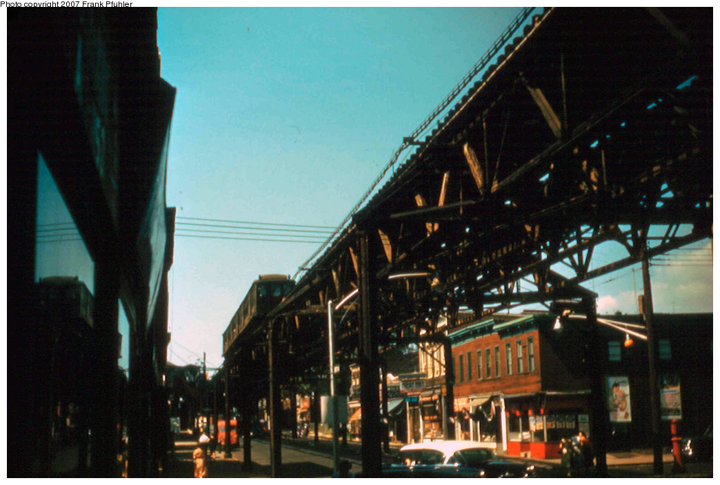 (207k, 1044x704)<br><b>Country:</b> United States<br><b>City:</b> New York<br><b>System:</b> New York City Transit<br><b>Line:</b> BMT Fulton<br><b>Photo by:</b> Frank Pfuhler<br><b>Date:</b> 9/4/1955<br><b>Viewed (this week/total):</b> 1 / 4497