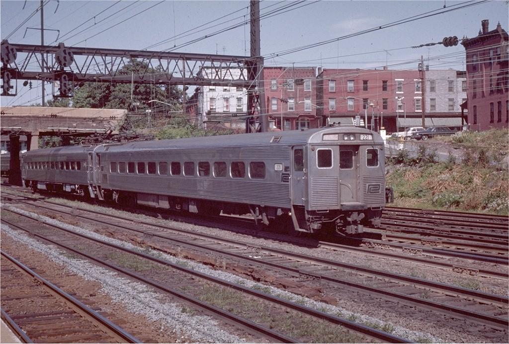(271k, 1024x692)<br><b>Country:</b> United States<br><b>System:</b> Northeast Corridor (NJ) (Amtrak/NJTransit)<br><b>Line:</b> Northeast Corridor<br><b>Location:</b> Trenton <br><b>Car:</b> SEPTA Silverliner III (Ex-PRR) (St. Louis Car, 1967)  221 <br><b>Photo by:</b> Willie Rosenberg<br><b>Collection of:</b> Joe Testagrose<br><b>Date:</b> 7/1971<br><b>Viewed (this week/total):</b> 2 / 1893