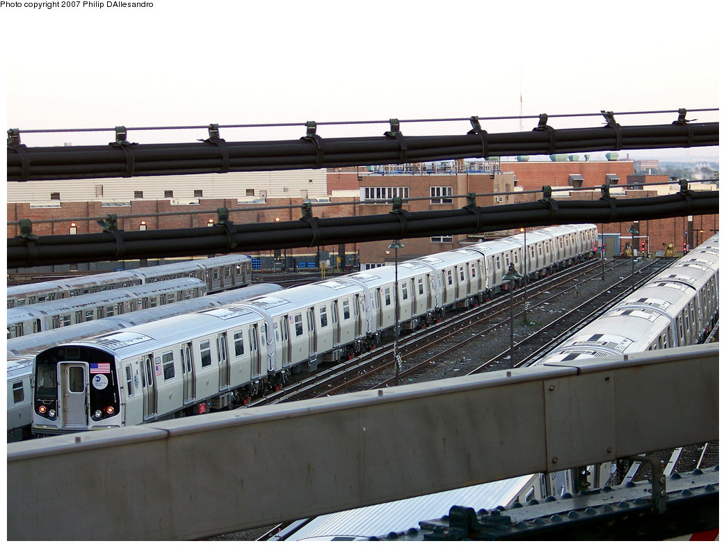 (297k, 1044x788)<br><b>Country:</b> United States<br><b>City:</b> New York<br><b>System:</b> New York City Transit<br><b>Location:</b> East New York Yard/Shops<br><b>Car:</b> R-160A-1 (Alstom, 2005-2008, 4 car sets)  8392 <br><b>Photo by:</b> Philip D'Allesandro<br><b>Date:</b> 10/22/2007<br><b>Viewed (this week/total):</b> 2 / 1811