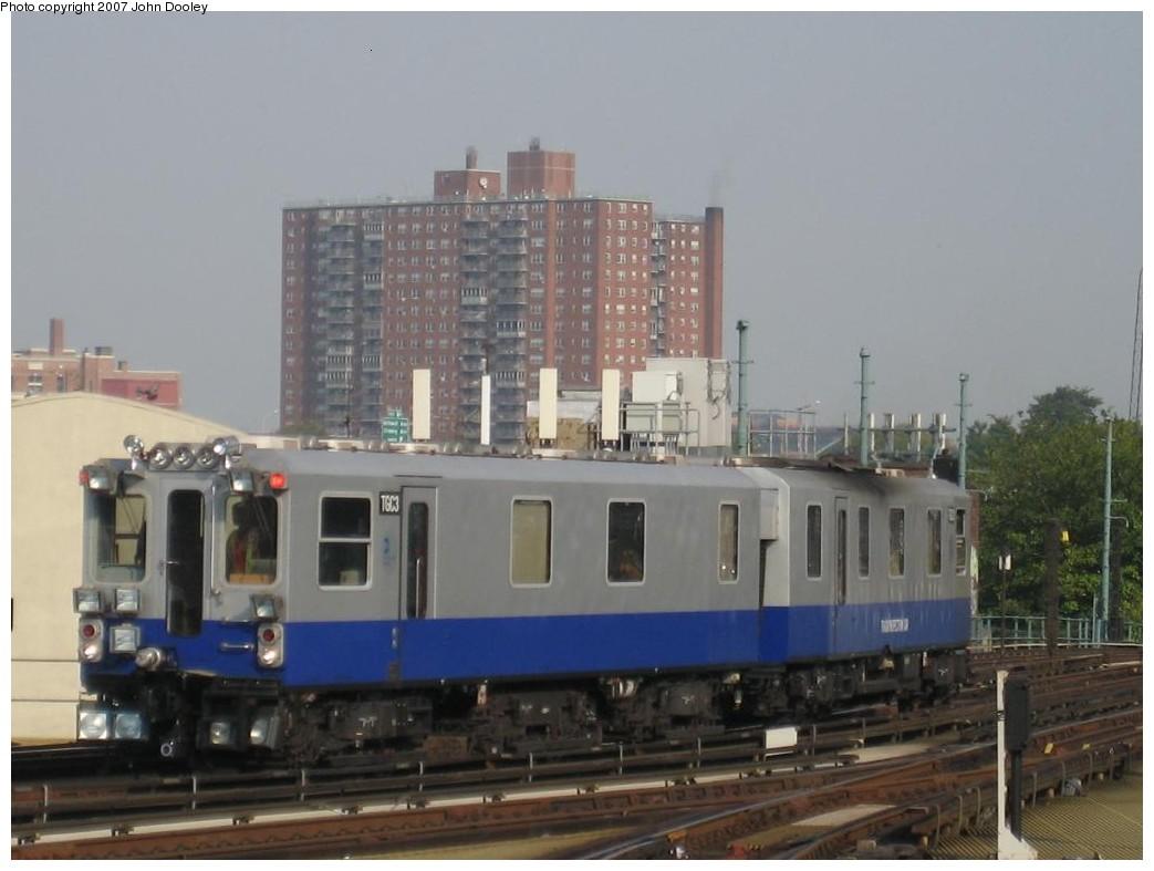 (152k, 1043x787)<br><b>Country:</b> United States<br><b>City:</b> New York<br><b>System:</b> New York City Transit<br><b>Location:</b> Coney Island/Stillwell Avenue<br><b>Route:</b> Work Service<br><b>Car:</b> Track Geometry Car TGC3 <br><b>Photo by:</b> John Dooley<br><b>Date:</b> 10/18/2007<br><b>Viewed (this week/total):</b> 0 / 2823